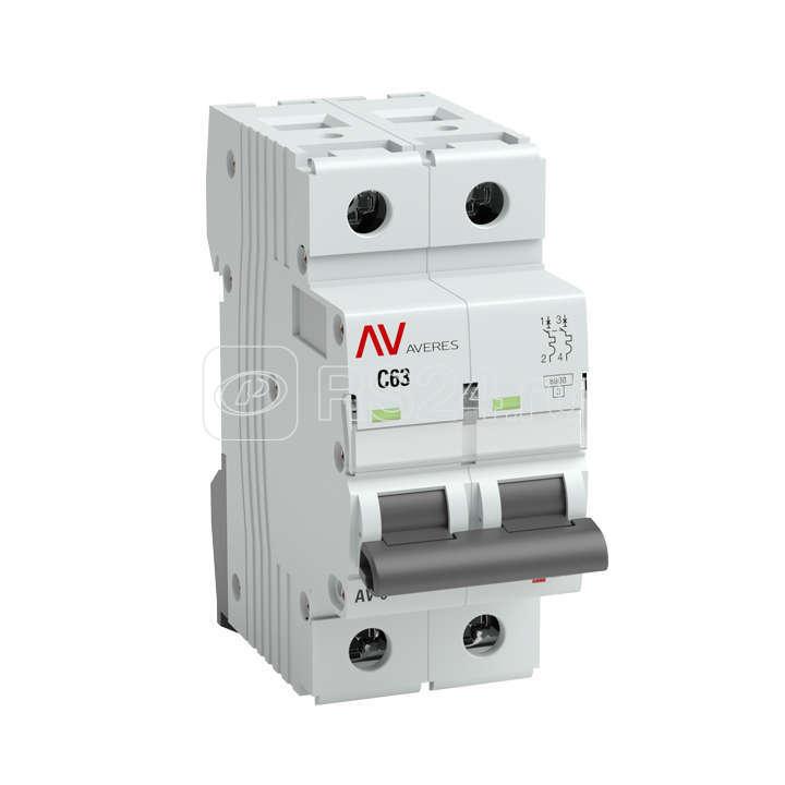 Выключатель автоматический 2п B 20А AV-10 10кА AVERES EKF mcb10-2-20B-av купить в интернет-магазине RS24