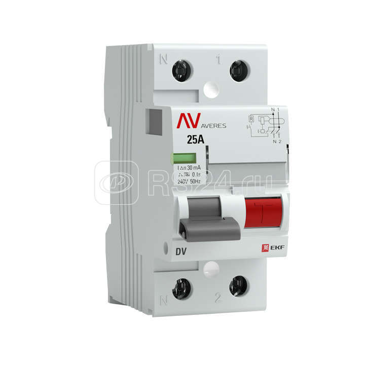 Выключатель дифференциального тока (УЗО) 2п 40А 30мА тип A DV AVERES EKF rccb-2-40-30-a-av купить в интернет-магазине RS24