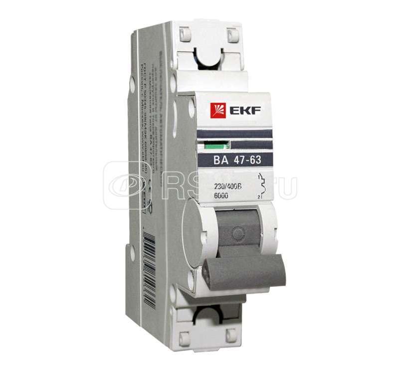 Выключатель автоматический модульный 1п B 32А 6кА ВА 47-63 PROxima EKF mcb4763-6-1-32B-pro купить в интернет-магазине RS24