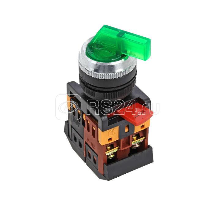 Переключатель ANLC-22 3P зел. с подсветкой 380В NO+NC EKF psw-anlc-3p-g-380 купить в интернет-магазине RS24