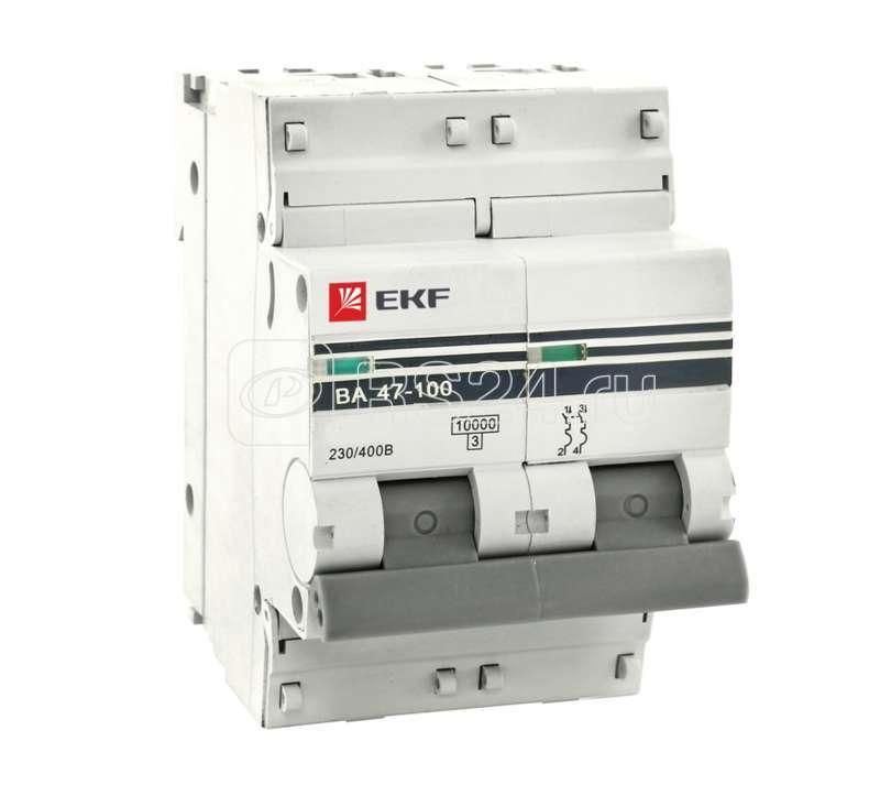 Выключатель автоматический модульный 2п D 80А 10кА ВА 47-100 PROxima EKF mcb47100-2-80D-pro купить в интернет-магазине RS24