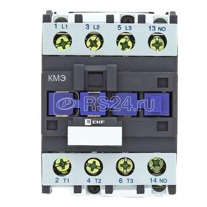 Контактор малогабаритный КМЭ 25А 400В 1NC Basic EKF ctr-s-25-400-nc-basic купить в интернет-магазине RS24