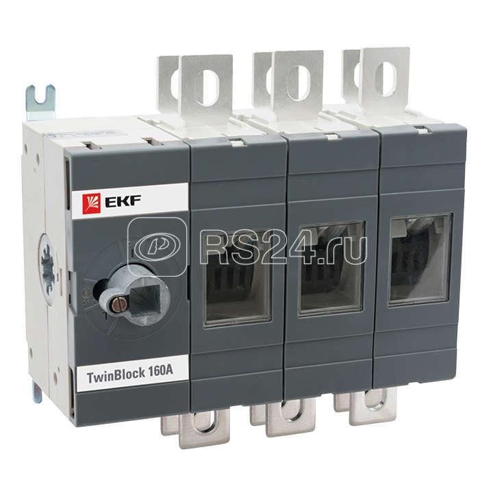Рубильник 3п 800А реверсивный без рукоятки управления TwinBlock EKF tb-s-800-3p-rev купить в интернет-магазине RS24
