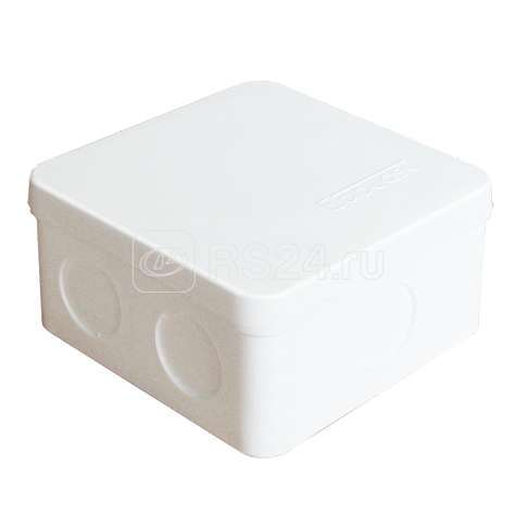 Коробка распр. ОП 84х84х45 7 выходов без гермовводов IP54 крышка защелкивающаяся бел. Epplast 125101 купить в интернет-магазине RS24