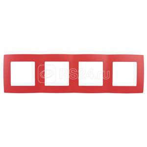 Рамка 4-м 12-5004-23 красн. ЭРА Б0019415 купить в интернет-магазине RS24