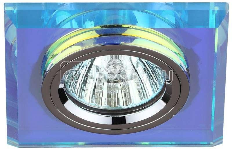 Светильник DK8 CH/PR декор стекло квадрат MR16 12В 50Вт хром/перламутр ЭРА C0043790 купить в интернет-магазине RS24