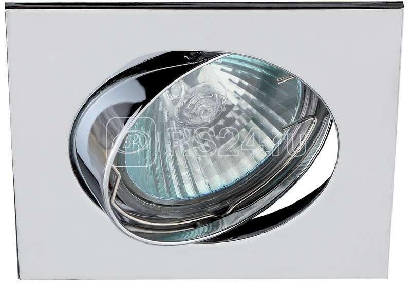 Светильник KL2A CH 1х50Вт GU5.3 IP20 литой квадрат поворот. MR16 12В/220В хром ЭРА C0043661 купить в интернет-магазине RS24