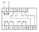 Реле промежуточное PK-4P (монтаж на DIN-рейке 35мм 24В 50Гц 4х8А 4 перекл.) F&F EA06.001.024 купить в интернет-магазине RS24