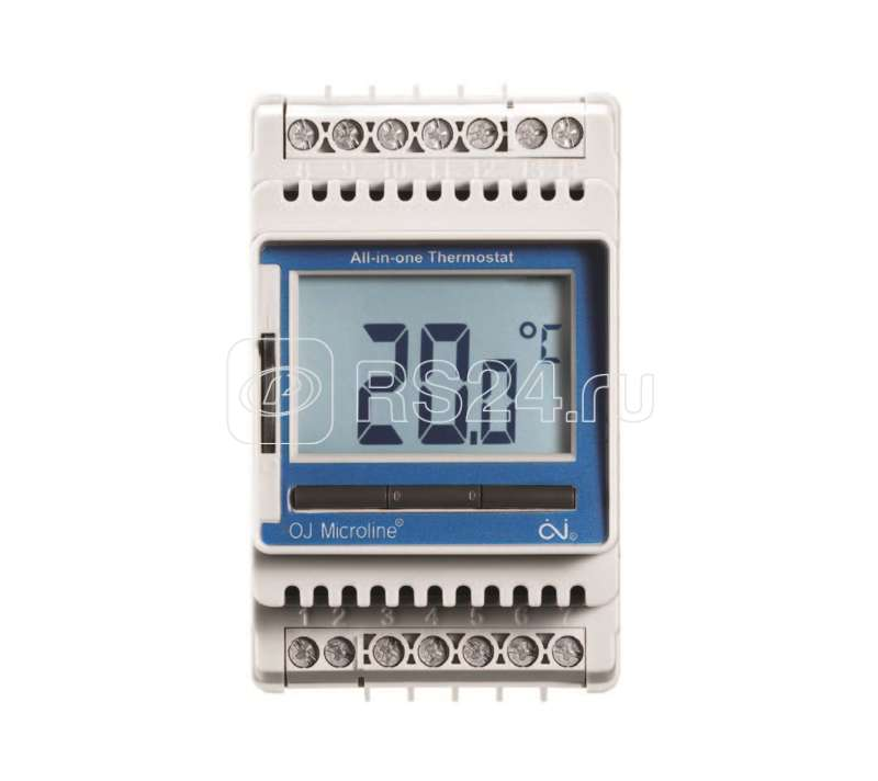Термостат прогр. ETN4-1999 дисп. датчик пола 3.6кВт 16А на DIN-рейку OJ ELECTRONICS