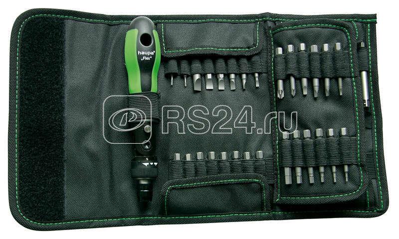 Набор отверток с трещеточным механизмом со сменными наконечниками (50 предметов) HAUPA 104020 купить в интернет-магазине RS24