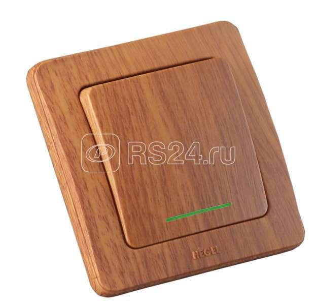 Выключатель 1-кл. СП Мастер 10А 250В IP20 с индик. дуб HEGEL ВС10-362-05 купить в интернет-магазине RS24