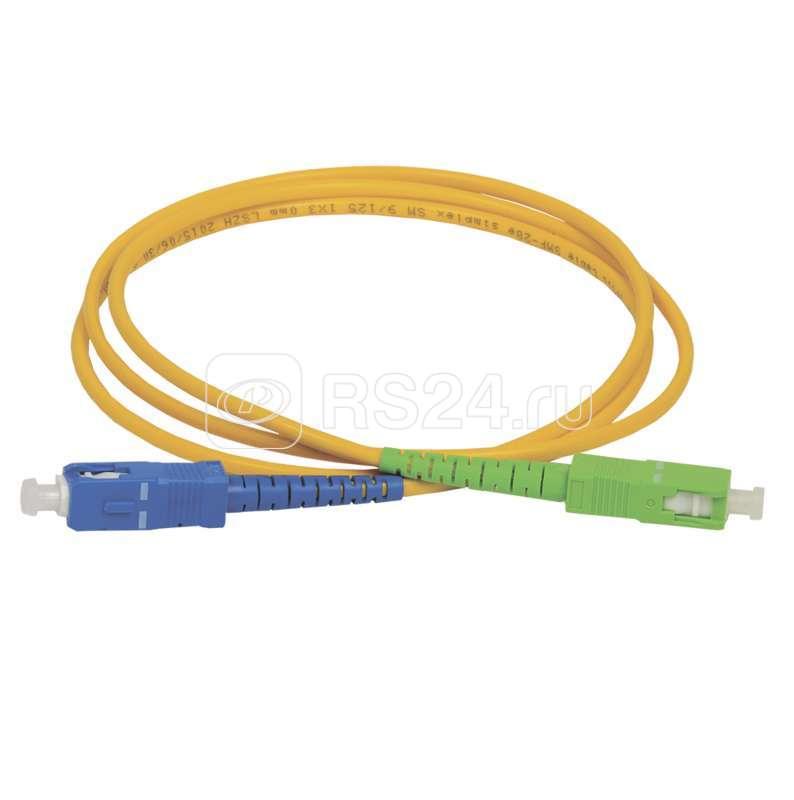 Патч-корд оптический коммутационный соединительный для одномодового кабеля (SM); 9/125 (OS2); SC/UPC-SC/APC (Simplex) (дл.20м) ITK FPC09-SCU-SCA-C1L-20M купить в интернет-магазине RS24
