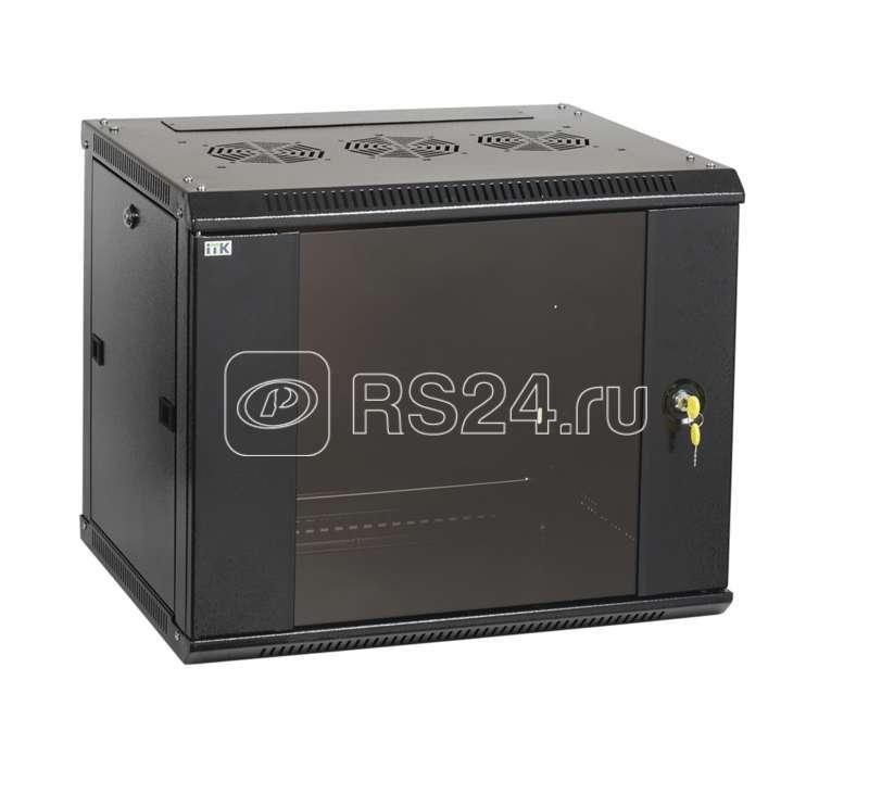 Шкаф LINEA W 12U 600х450мм дверь стекло в сборе RAL9005 ITK LWR5-12U64-G купить в интернет-магазине RS24