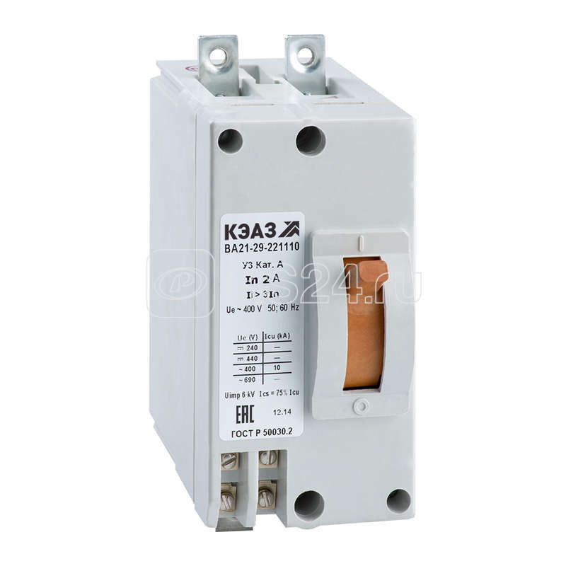 Выключатель авт. ВА21-29-221110 2А 3Iн 440DC У3 КЭАЗ 101472 купить в интернет-магазине RS24