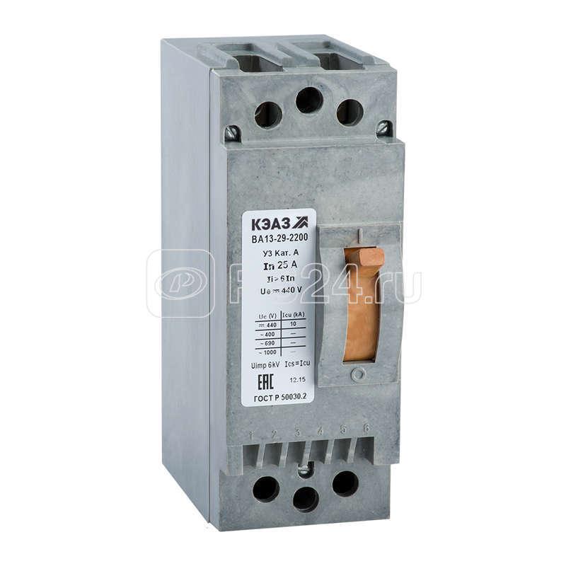 Выключатель авт. ВА13 29-2311 16А 6Iн 440DC У3 КЭАЗ 107814 купить в интернет-магазине RS24
