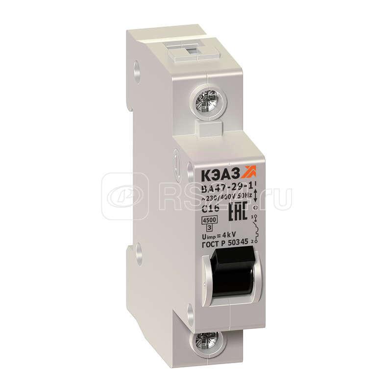 Выключатель автоматический модульный 1п C 40А ВА47-29 1С40 УХЛ3 КЭАЗ 141585 купить в интернет-магазине RS24