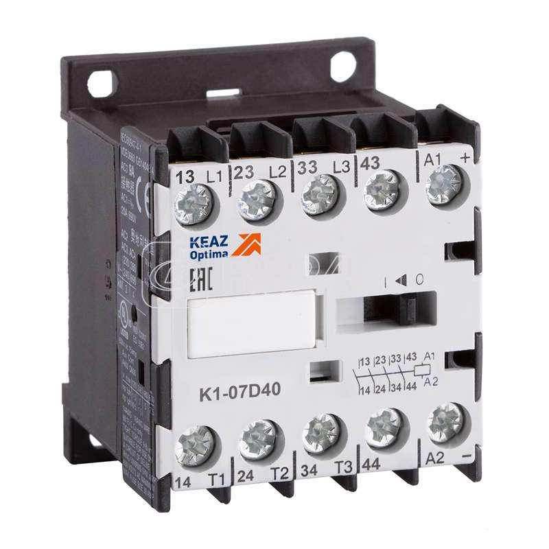 Миниконтактор релейный OptiStart K1 07D22 230AC КЭАЗ 117158 купить в интернет-магазине RS24