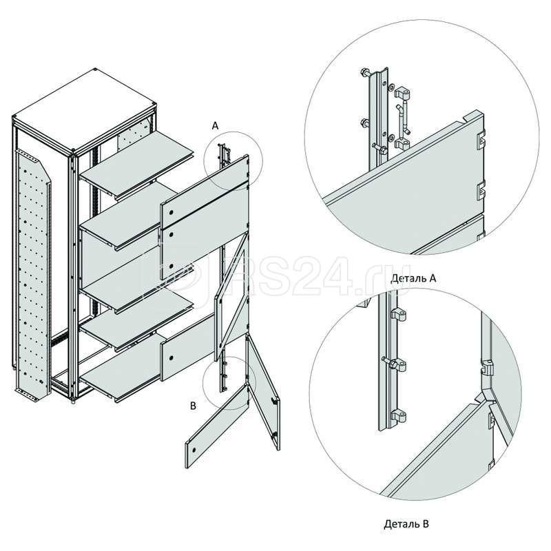 Разделитель вертикальный внешней модульной системы OptiBox M-2200х200 (уп.2шт) КЭАЗ 259236 купить в интернет-магазине RS24