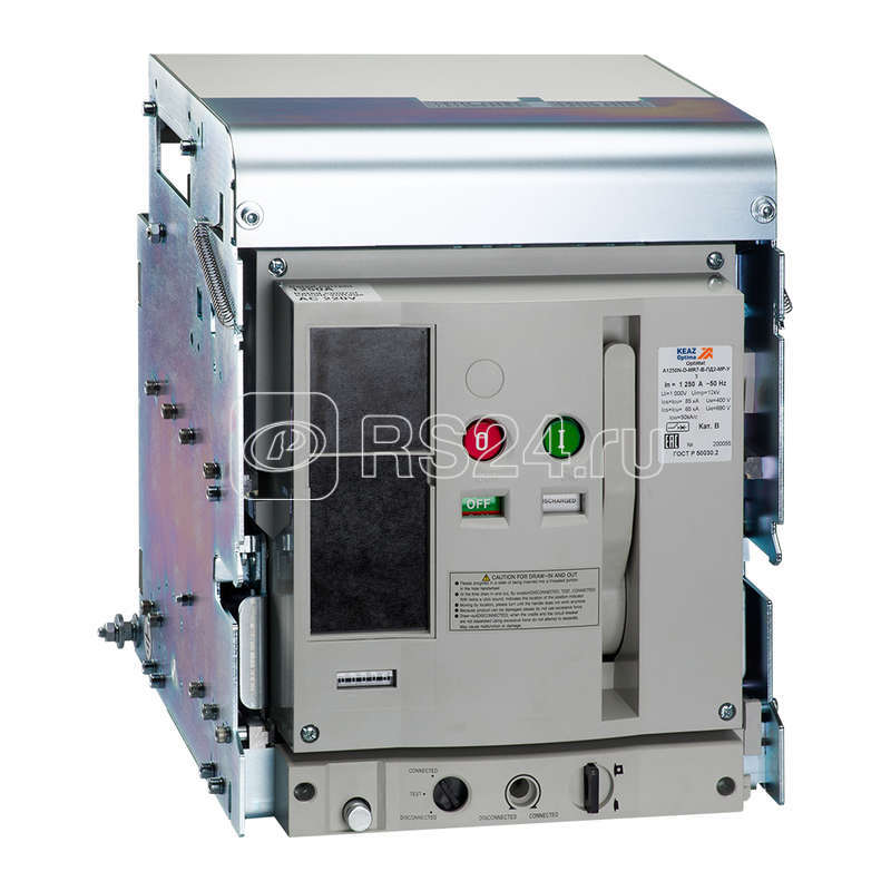 Выключатель автоматический OptiMat A1600N-D-B-ПД2-НР-У3 КЭАЗ 264148 купить в интернет-магазине RS24