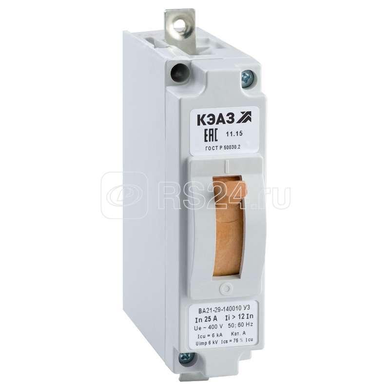 Выключатель авт. ВА21-29-120010 40А 1.5Iн 240DC У3 КЭАЗ 102836 купить в интернет-магазине RS24