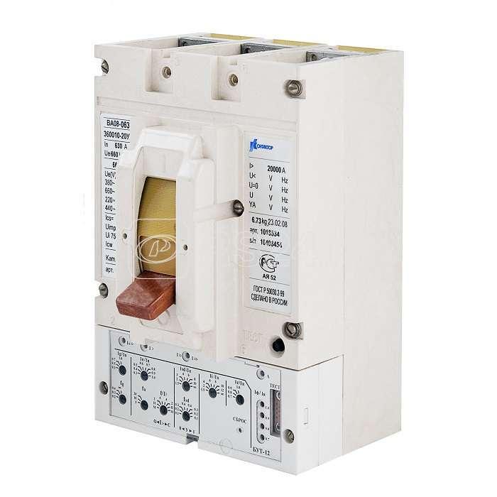 Выключатель авт. ВА08-0405С-350010-20УХЛ3 400А 380В длинные вывода Контактор 1030890 купить в интернет-магазине RS24