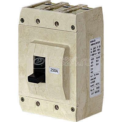 Выключатель авт. ВА04-36-341215-20УХЛ3 315А 660В без комплекта зажимов Контактор 1037140 купить в интернет-магазине RS24