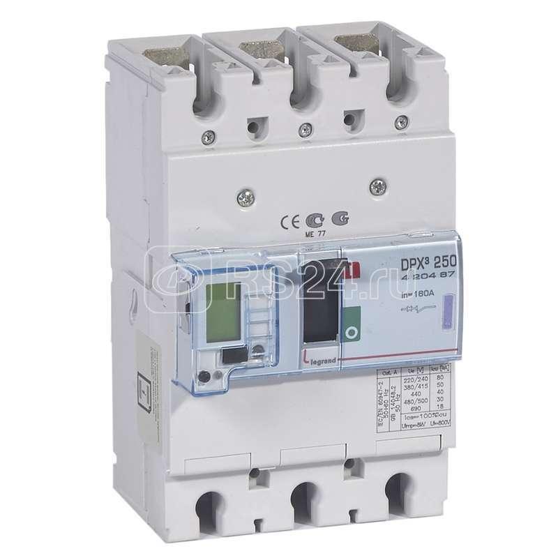 Выключатель авт. 3п DPX3 250 160А 50kA Leg 420467 купить в интернет-магазине RS24