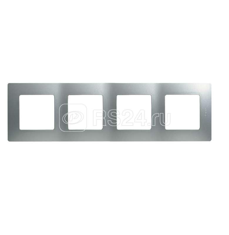 Рамка 4-м Etika алюм. Leg 672554