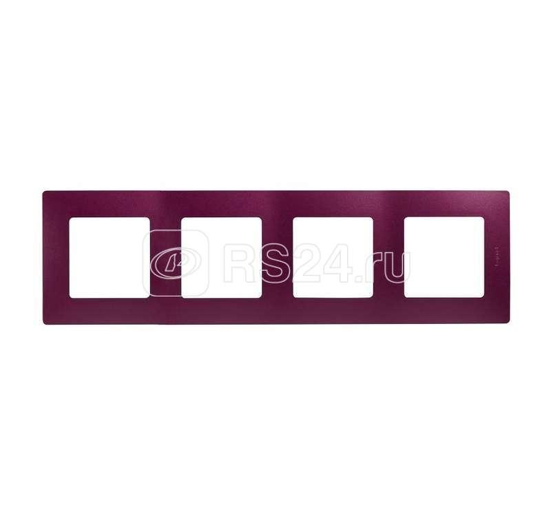 Рамка 4-м Etika сливовый Leg 672564
