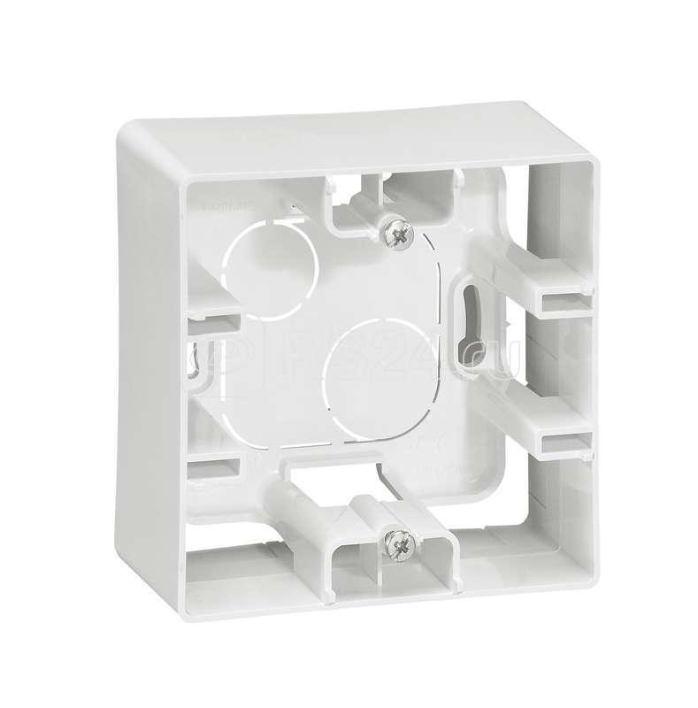 Коробка для наруж. монтажа 1-м Etika бел. Leg 672510