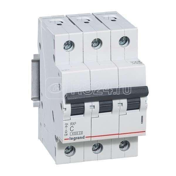 Выключатель автоматический модульный 3п C 32А 4.5кА RX3 Leg 419711 купить в интернет-магазине RS24