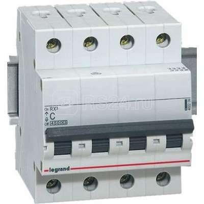 Выключатель автоматический модульный 4п C 50А 4.5кА RX3 Leg 419746 купить в интернет-магазине RS24