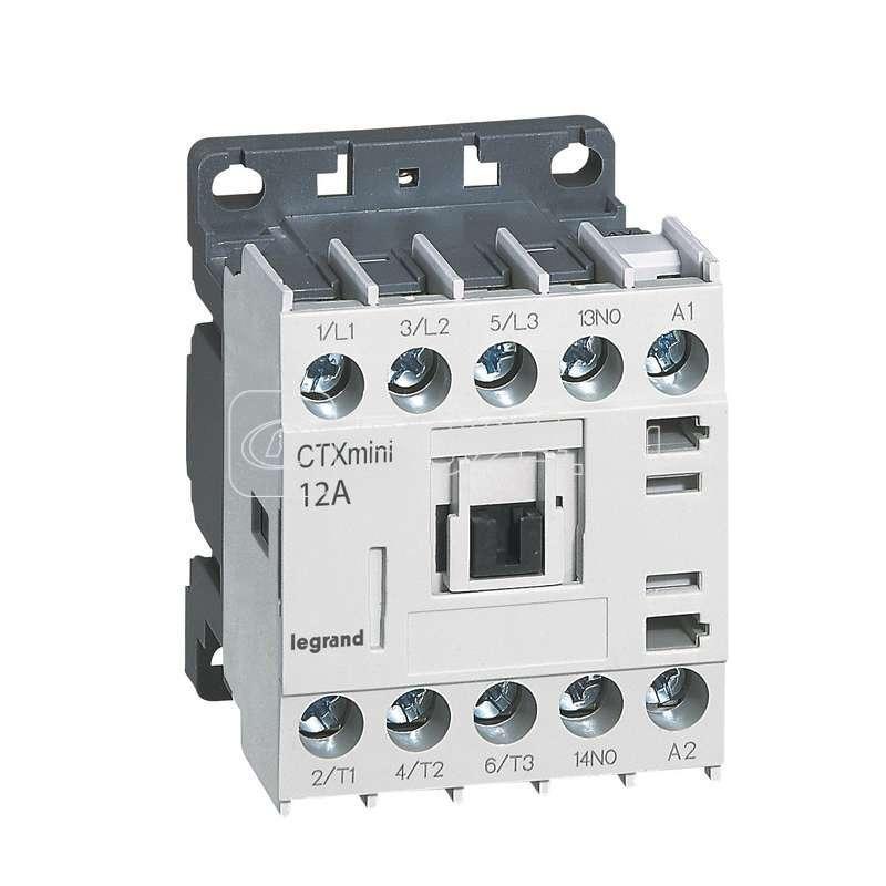 Контактор CTX-3 3P 12А 1НО ~230В мини Leg 417046 купить в интернет-магазине RS24