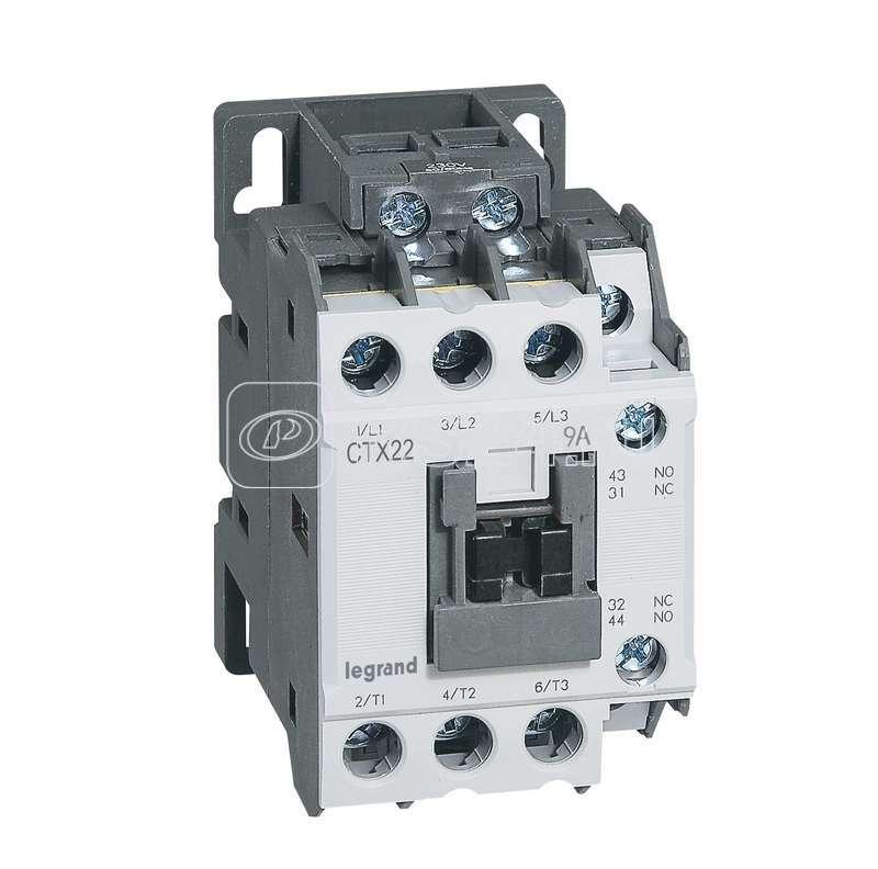 Контактор CTX-3 3P 9А 1НО 1HЗ =24В Leg 416081 купить в интернет-магазине RS24