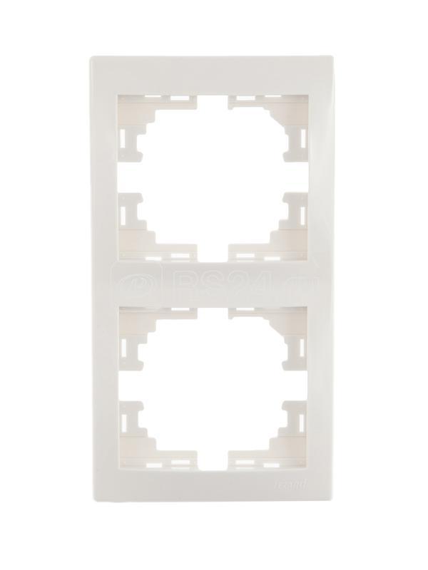 Рамка 2-м Мира верт. бел. Lezard 701-0200-152