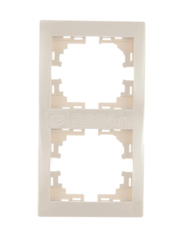 Рамка 2-м Мира верт. крем. Lezard 701-0300-152