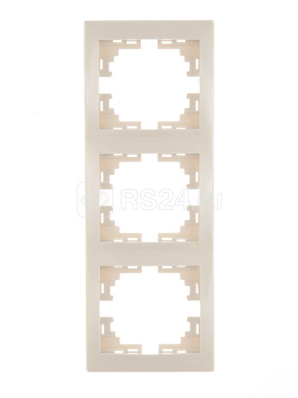 Рамка 3-м Мира верт. крем. Lezard 701-0300-153