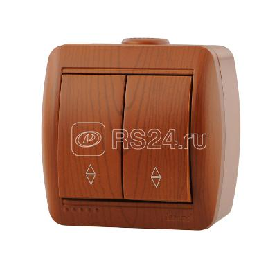 Выключатель 2-кл. ОП Ната проходн. сосна Lezard 710-0800-106 купить в интернет-магазине RS24