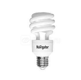 Лампа люминесцентная компакт. 94 410 NCL8-SH-20-827-E27/3PACK 20Вт E27 спиральная 2700К Navigator 17779 купить в интернет-магазине RS24