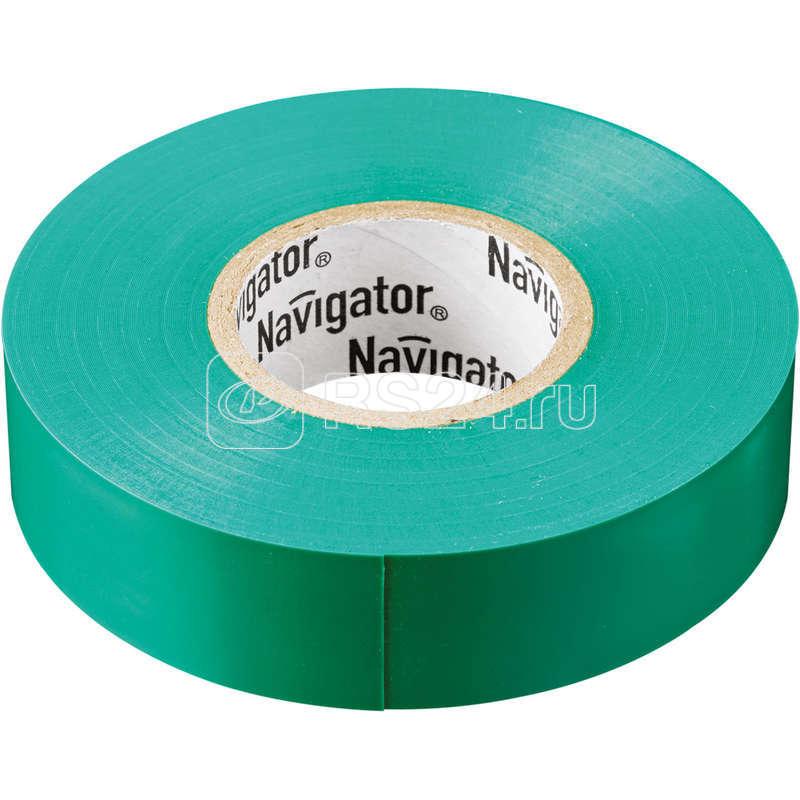 Изолента ПВХ 15мм (рул.20м) зел. NIT-B15-20/G Navigator 71106