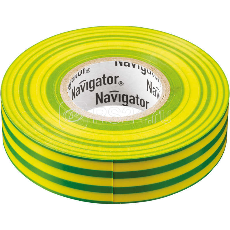 Изолента ПВХ 15мм (рул.20м) жел/зел. NIT-B15-20/YG Navigator 71108 купить в интернет-магазине RS24