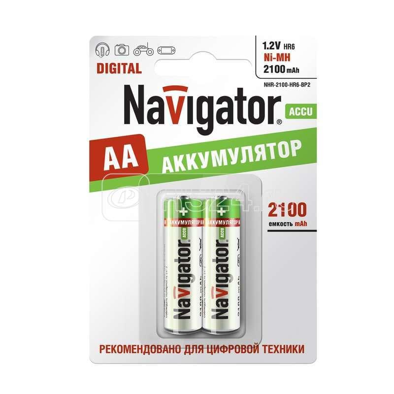 Аккумулятор 94 463 NHR-2100-HR6-BP2 (блист.2шт) Navigator 94463 купить в интернет-магазине RS24