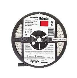 Лента светодиодная 71 406 NLS-3528R60-4.8 IP65 12B R5 4.8Вт/м (уп.5м) Navigator 71406 купить в интернет-магазине RS24