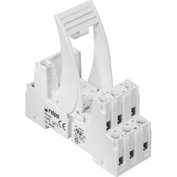 Розетка GZT-3 со скобой (винт) для R3 скоба GZT4-0040 пластик DIN35 Реле и Автоматика A8130-856049 купить в интернет-магазине RS24