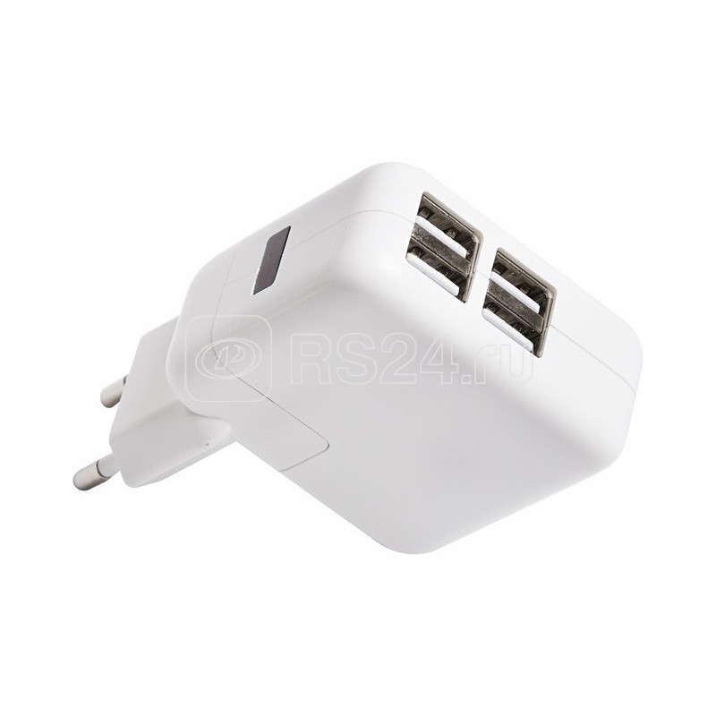 Устройство зарядное сетевое 4xUSB переходник+адаптер (СЗУ) 5В 2х2 100мА 2х1000мА Rexant 18-1184 купить в интернет-магазине RS24