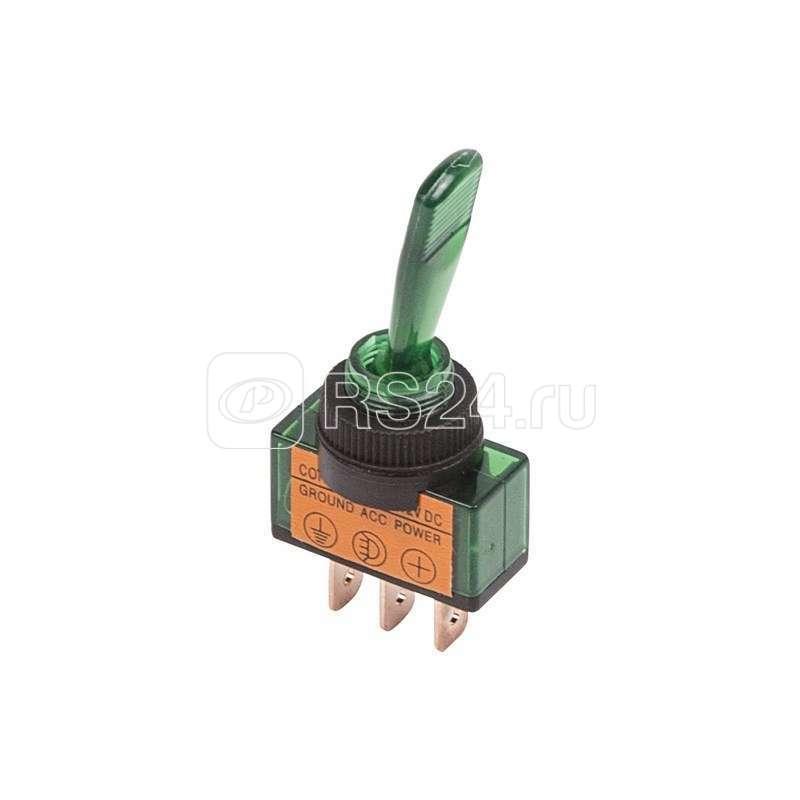 Тумблер 12В 20А (3с) ON-OFF 1п с зел. подсветкой (ASW-13D) Rexant 36-4373 купить в интернет-магазине RS24