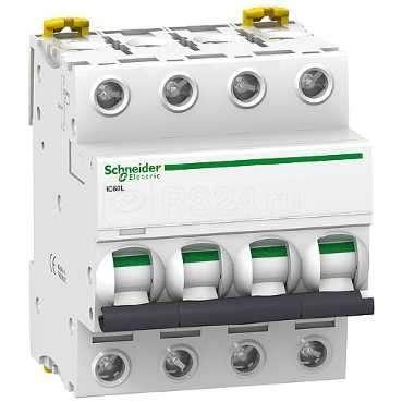 Выключатель автоматический модульный 4п K 0.5А iC60L Acti9 SchE A9F95470 купить в интернет-магазине RS24