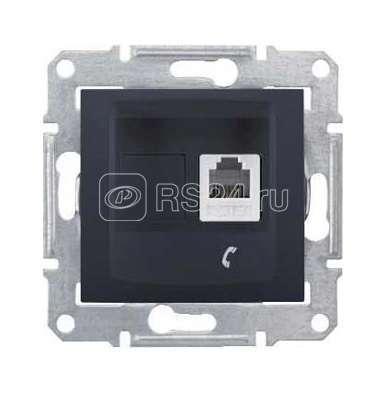 Механизм розетки телеф. 2-м СП Sedna графит SchE SDN4101170 купить в интернет-магазине RS24