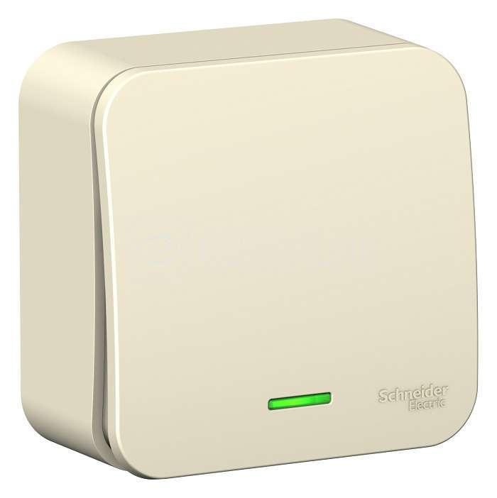 Выключатель 1-кл. ОП BLANCA (сх.1) 6А 250В с подсветкой молоч. SchE BLNVA061102 купить в интернет-магазине RS24