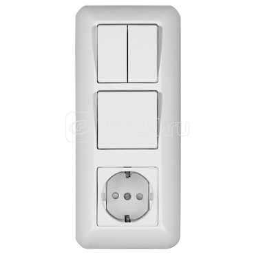 Блок СП БК-2 ВР-005В Прима (1-кл.+1-кл. выкл.+розетка с заземл.) с индик. SchE BK2VR-005V-B (БК2ВР-005В-б) купить в интернет-магазине RS24